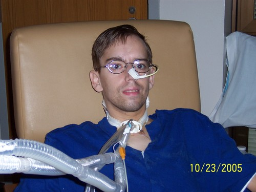 Still on the ventilator -- 10/23/05