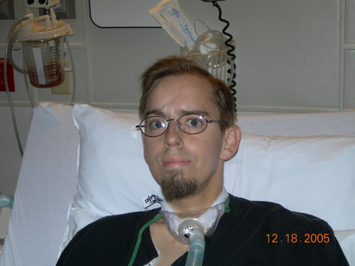 Post transplant, but back on the ventilator -- 12/18/05